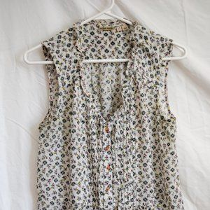 Anthropologie Holding Horses Floral Tank Top